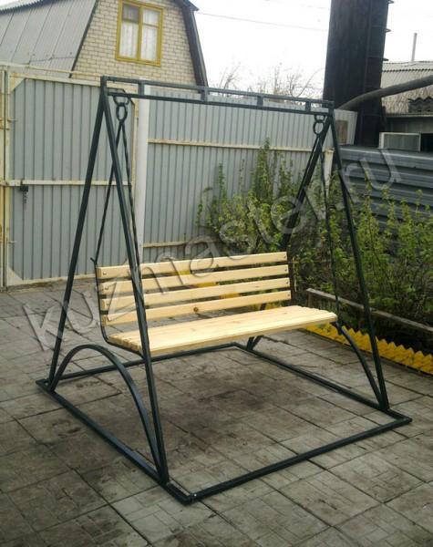 Качеля садовая из металла размеры